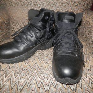 Mens REEBOK Tactile Boots 12 W Wide Black Leather